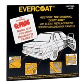 Evercoat Q-Pads Sound Deadening Panels - 116