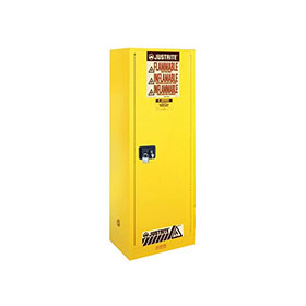 Justrite 54 Gallon Deep Slimline Styled Sure-Grip Ex Safety Cabinet Self-Close