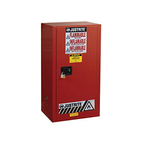 Justrite 20 Gallon Sure-Grip Ex Safety Cabinet For Combustibles - Red - 891511
