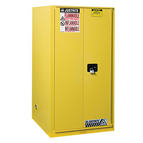 Justrite 60 Gallon Sure-Grip Ex Safety Cabinet - Sliding Self-Close - 896080