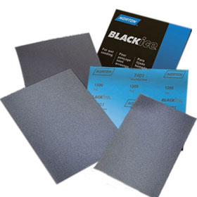 "Norton Black Ice Waterproof Sanding Paper Sheets, 9"" X 11"""