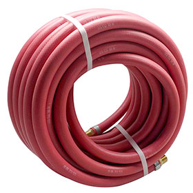 Red Rubber 50 Foot Air Hose 3/8""