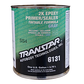 Transtar 2K Epoxy Primer Sealer, DTM, Gray, Gallon - 6131