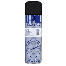 U-POL Power Can Aerosol, Gloss Black - UP0803