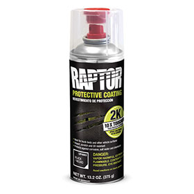 U-POL RAPTOR 2K Bedliner Aerosol Black - UP4883