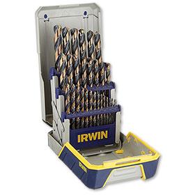 Irwin 29 Piece Black & Gold Metal Index Drill Bit Set - 3018005