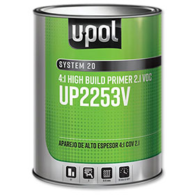 U-POL 2.1 VOC Compliant 4:1 2K High Build Primer - UP2253V
