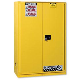 Justrite 45 Gallon Sure-Grip Ex Safety Cabinet - Bi-Fold Self-Close - 894580