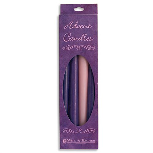 "10"" Advent Taper Candle Set - Purple/Pink"