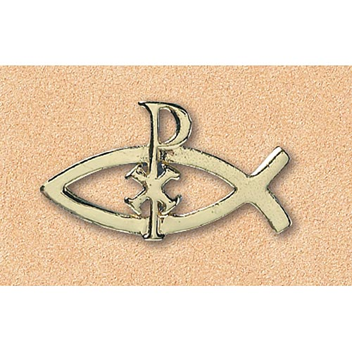 Pin: Ichthus With Cross