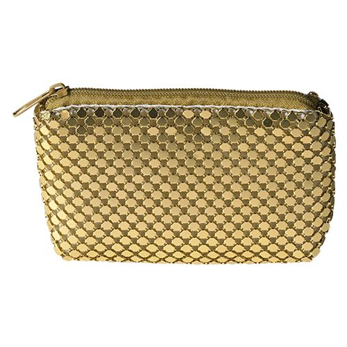 Gold Metal Mesh Clasp Rosary Case