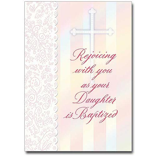 Rejoicing with You... Baptism Card