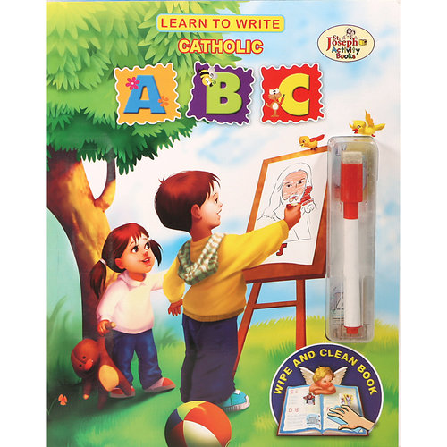 Learn To Write Catholic ABC Wipe and Clean Book