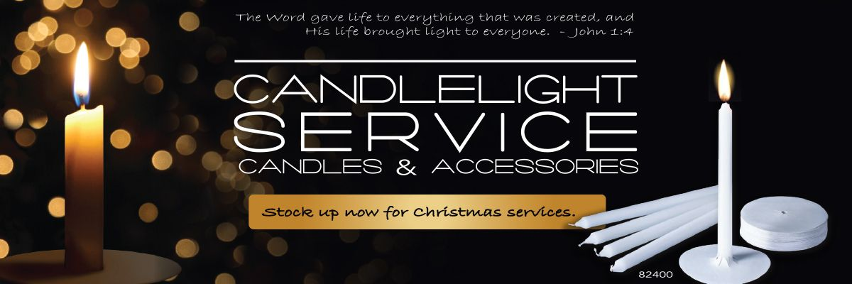 Candlelight Service Candles. Stock up now for Christmas services