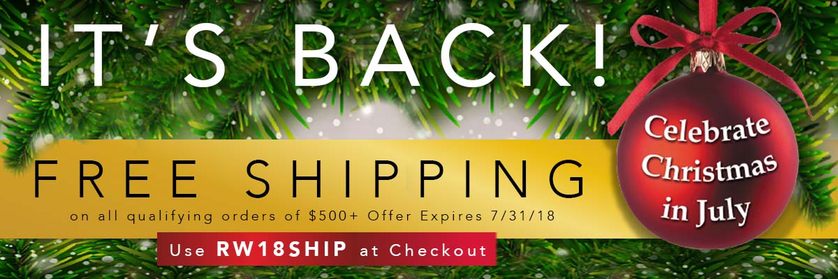 It's Back! Free Shipping with Christmas in July