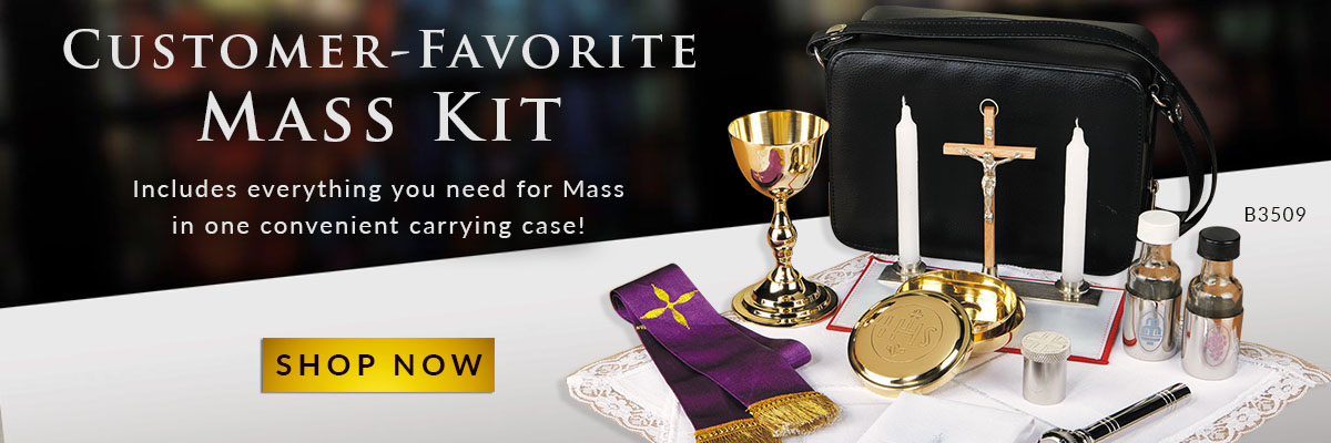 The Deluxe Mass Kit from Sudbury includes an additional Oil Stock and Holy Water Sprinkler