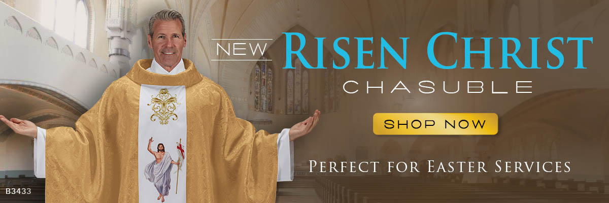 New Risen Christ Chasuble - Perfect for Easter Services