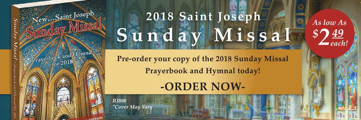 Pre-order the 2018 Saint Joseph Sunday Missal Prayerbook and Hymnal today!