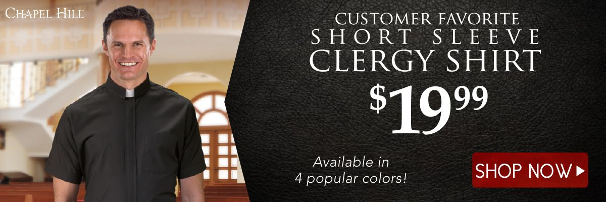 Customer Favorite Short Sleeve Clergy Shirt only $19.99 - Shop Now!