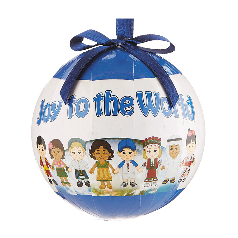 Joy to the World Decoupage Ornament - 6/pk