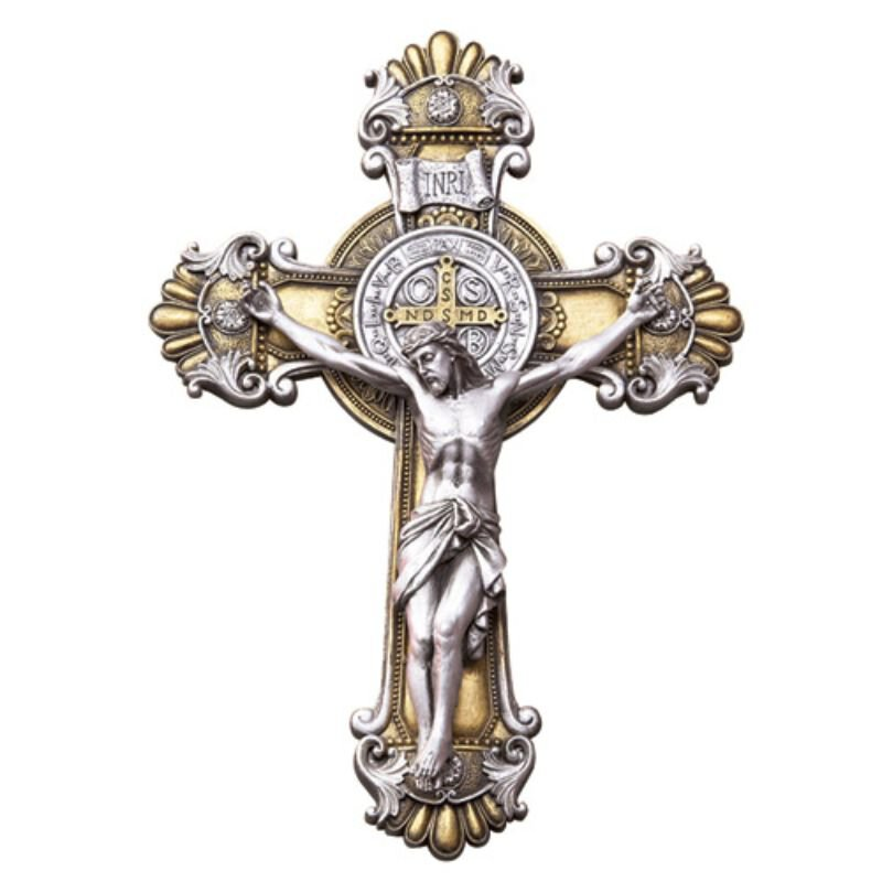 St. Benedict Ornate Wall Crucifix