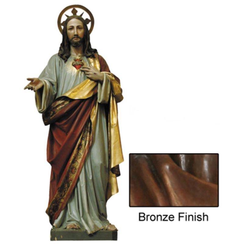 Sacred Heart Statue - Bronze