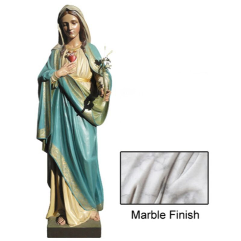 Immaculate Heart Statue - Marble