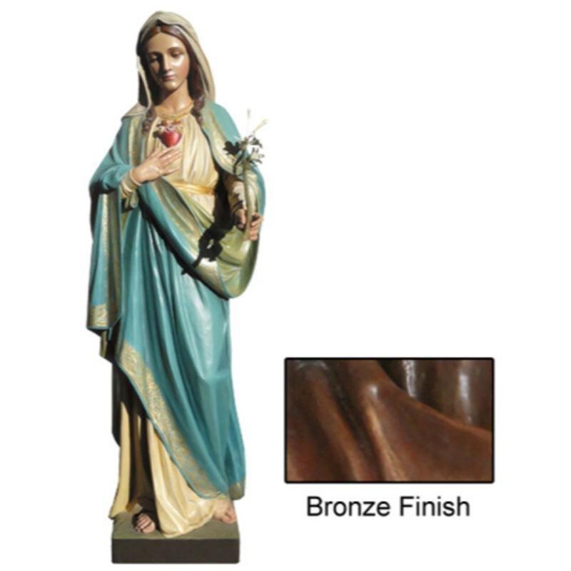 Immaculate Heart Statue - Bronze