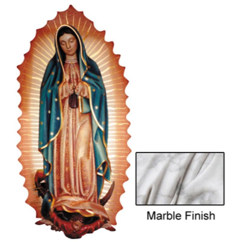 Our Lady of Guadalupe Wall Relief - Marble