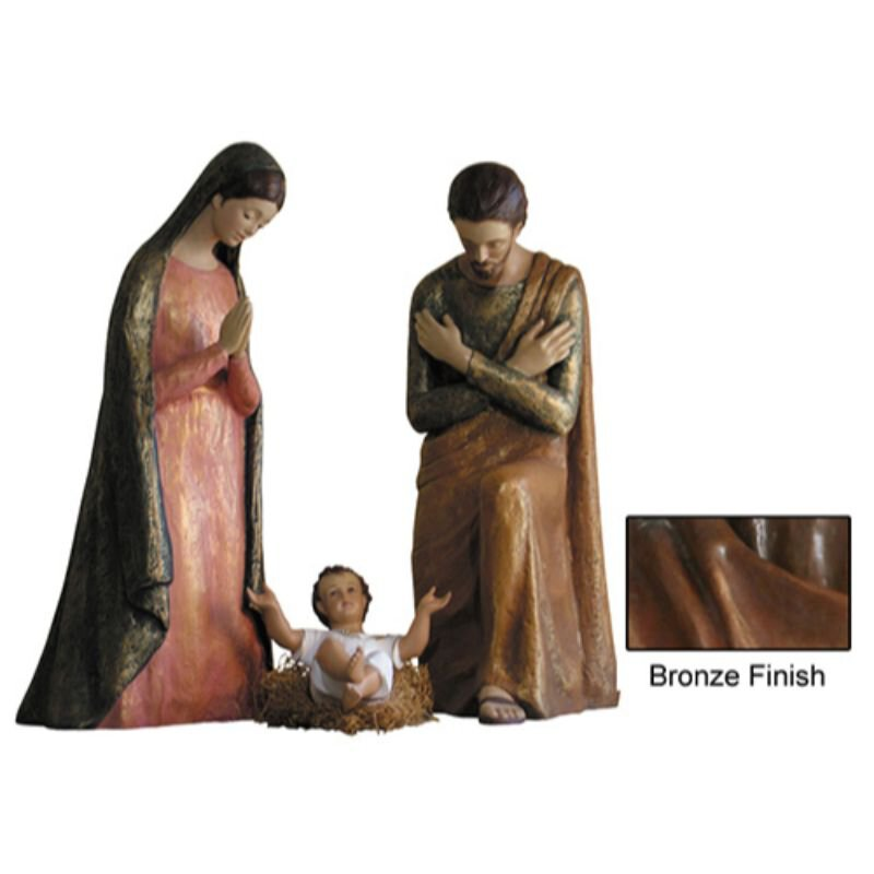 Modern Nativity Set - Bronze
