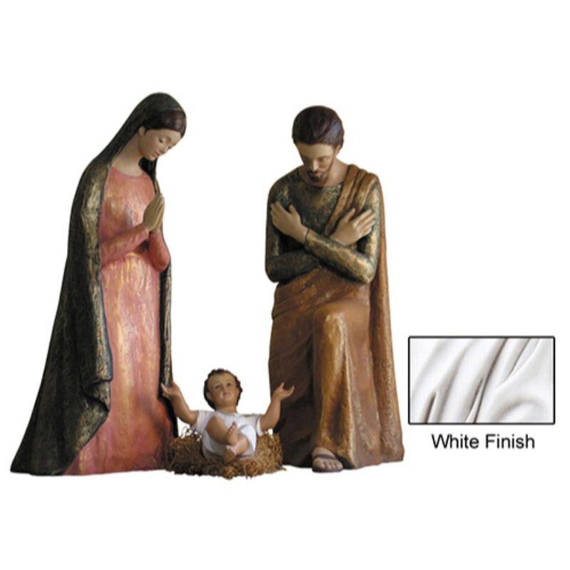 Modern Nativity Set - White