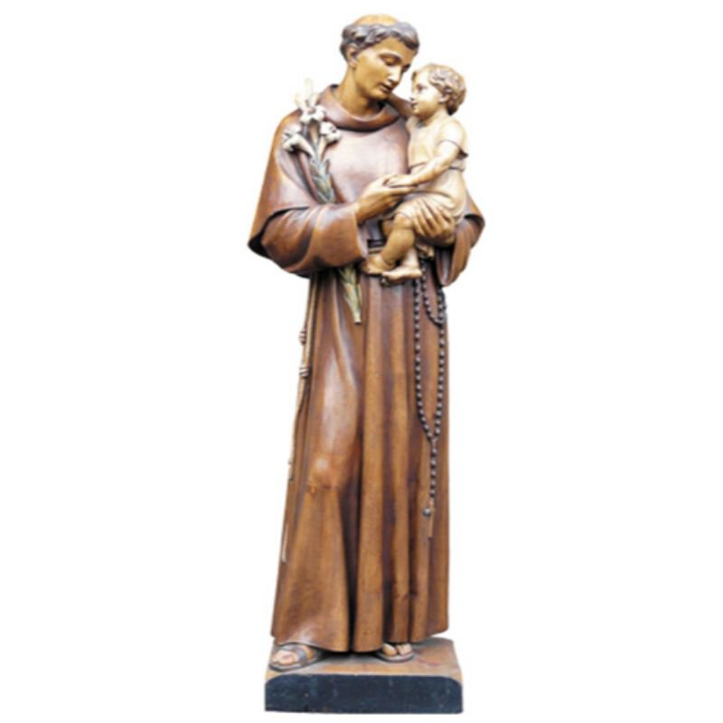 St Anthony Statue - Wood