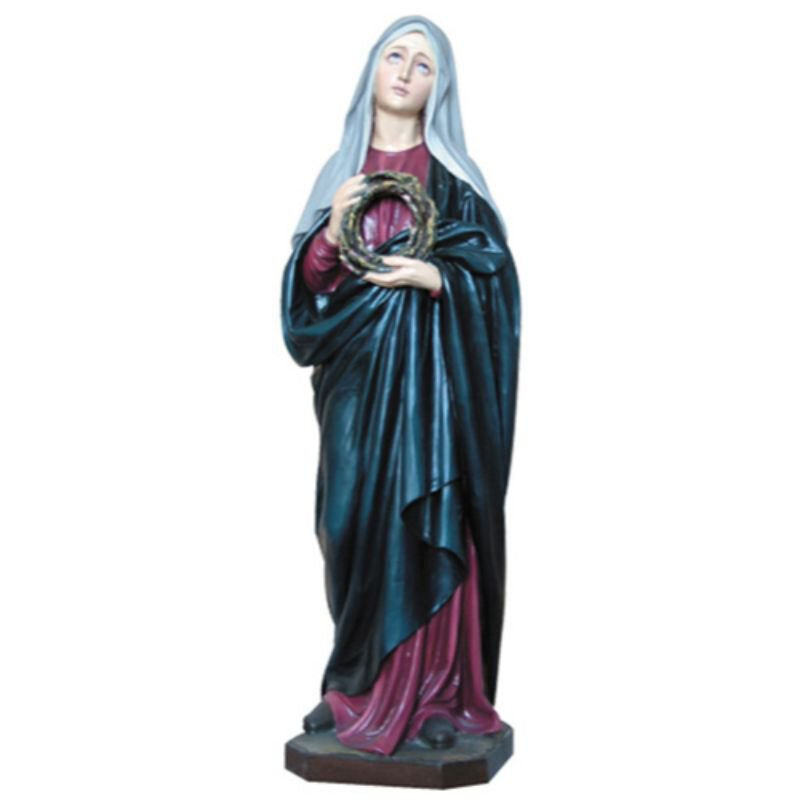 Our Lady of Sorrows Statue - Color
