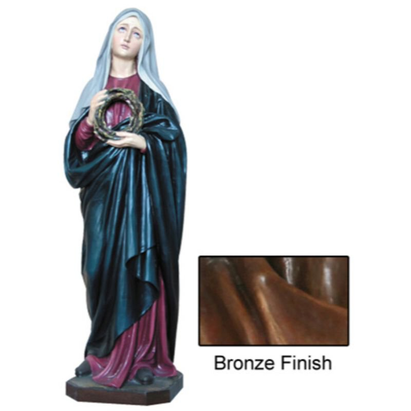 Our Lady of Sorrows Statue - Bronze