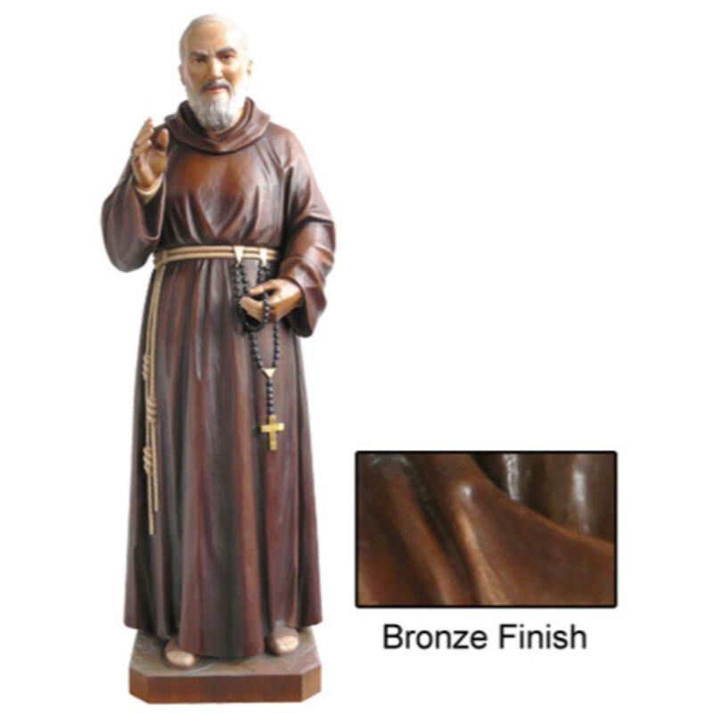 St Pio Statue - Bronze