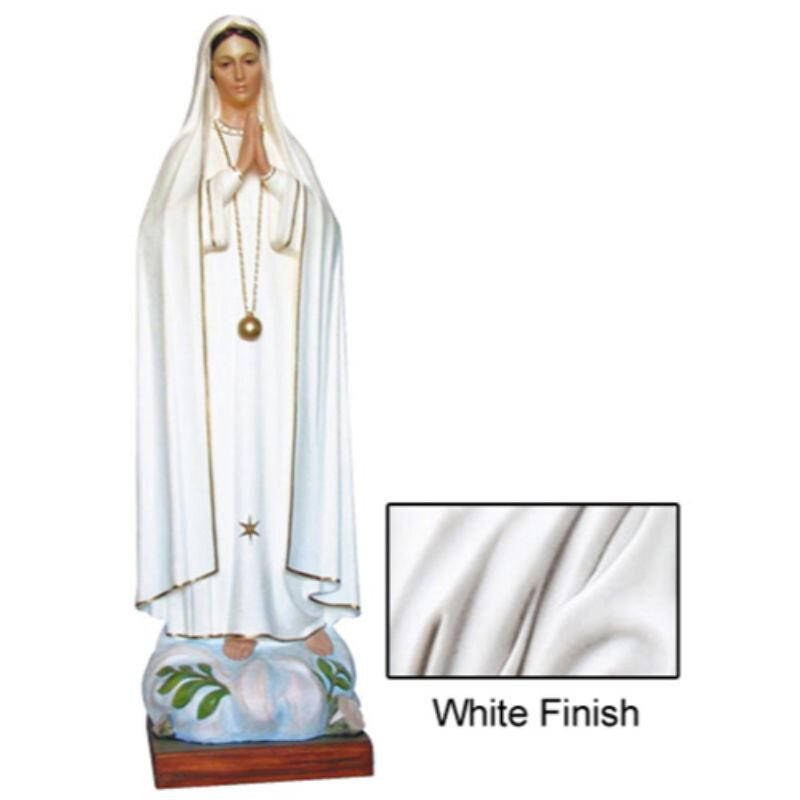 Our Lady of Fatima Statue - White