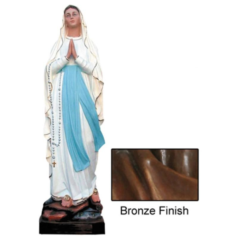 Our Lady of Lourdes Statue - Bronze