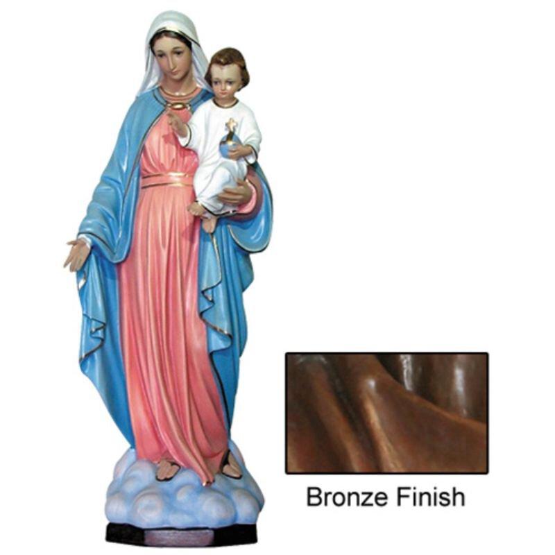 Madonna del Rosario Statue - Bronze