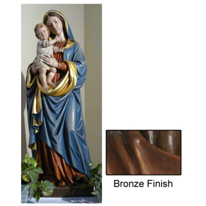 Madonna and Child Statue - Bronze