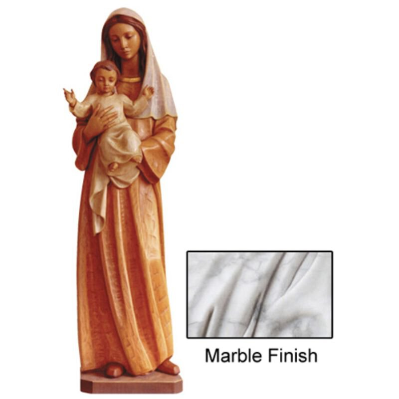 Madonna and Child of Fondness Statue - Marble