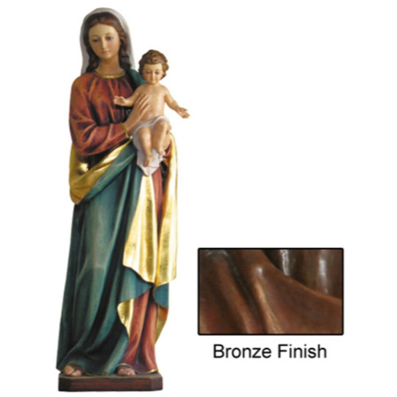 Madonna and Child Statue - Bronze