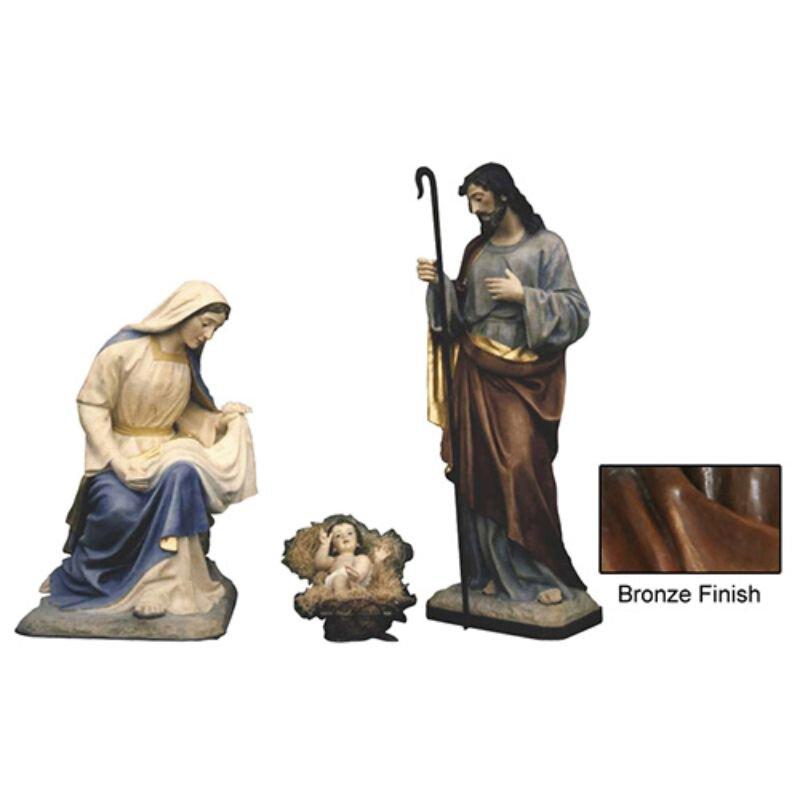 "32"" Nativity Set - Bronze"