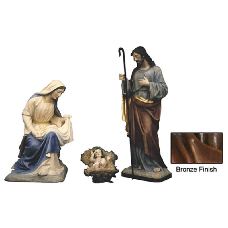 "40"" Nativity Set - Bronze"