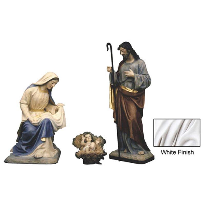 """40"""" Nativity Set - White"""