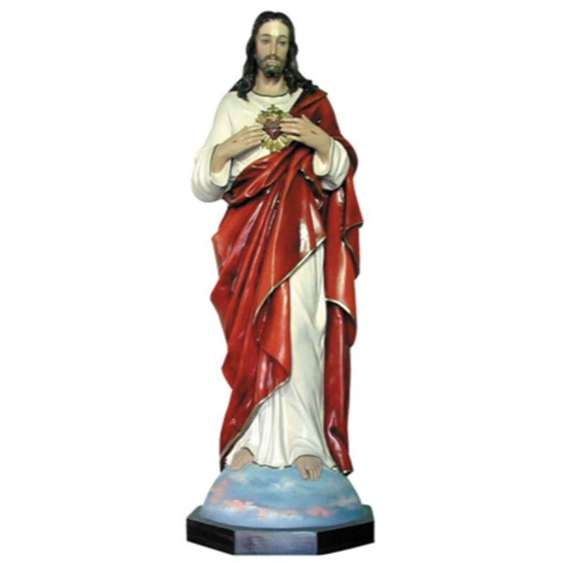 "52"" Sacred Heart Statue - Color"