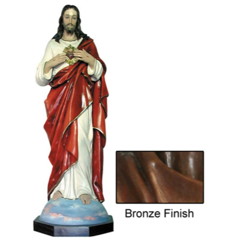 "52"" Sacred Heart Statue - Bronze"