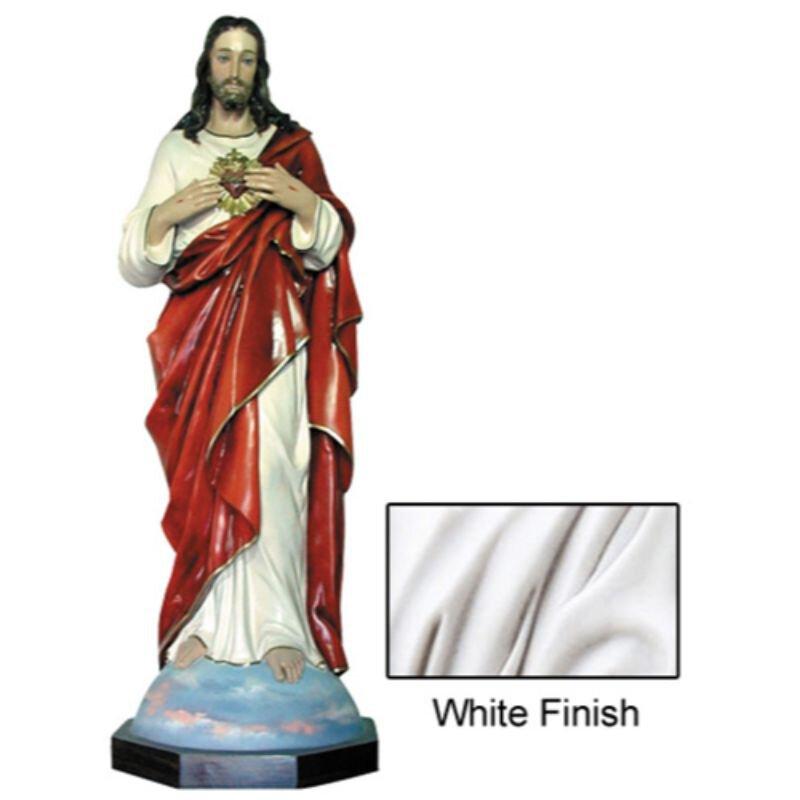 "52"" Sacred Heart Statue - White"