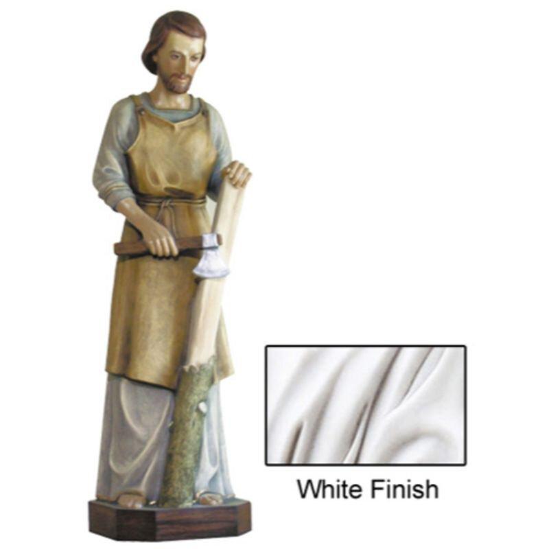 St Joseph the Worker Statue - White