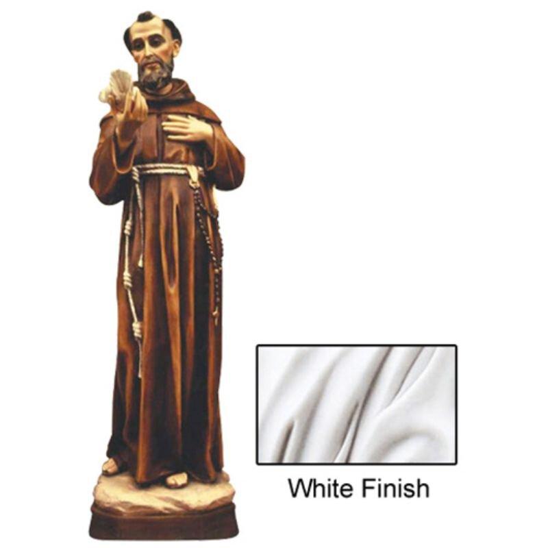 St Francis Statue - White