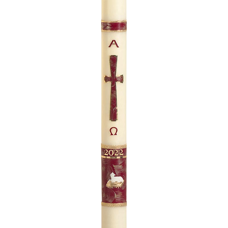 No 15 Behold the Lamb Paschal Candle